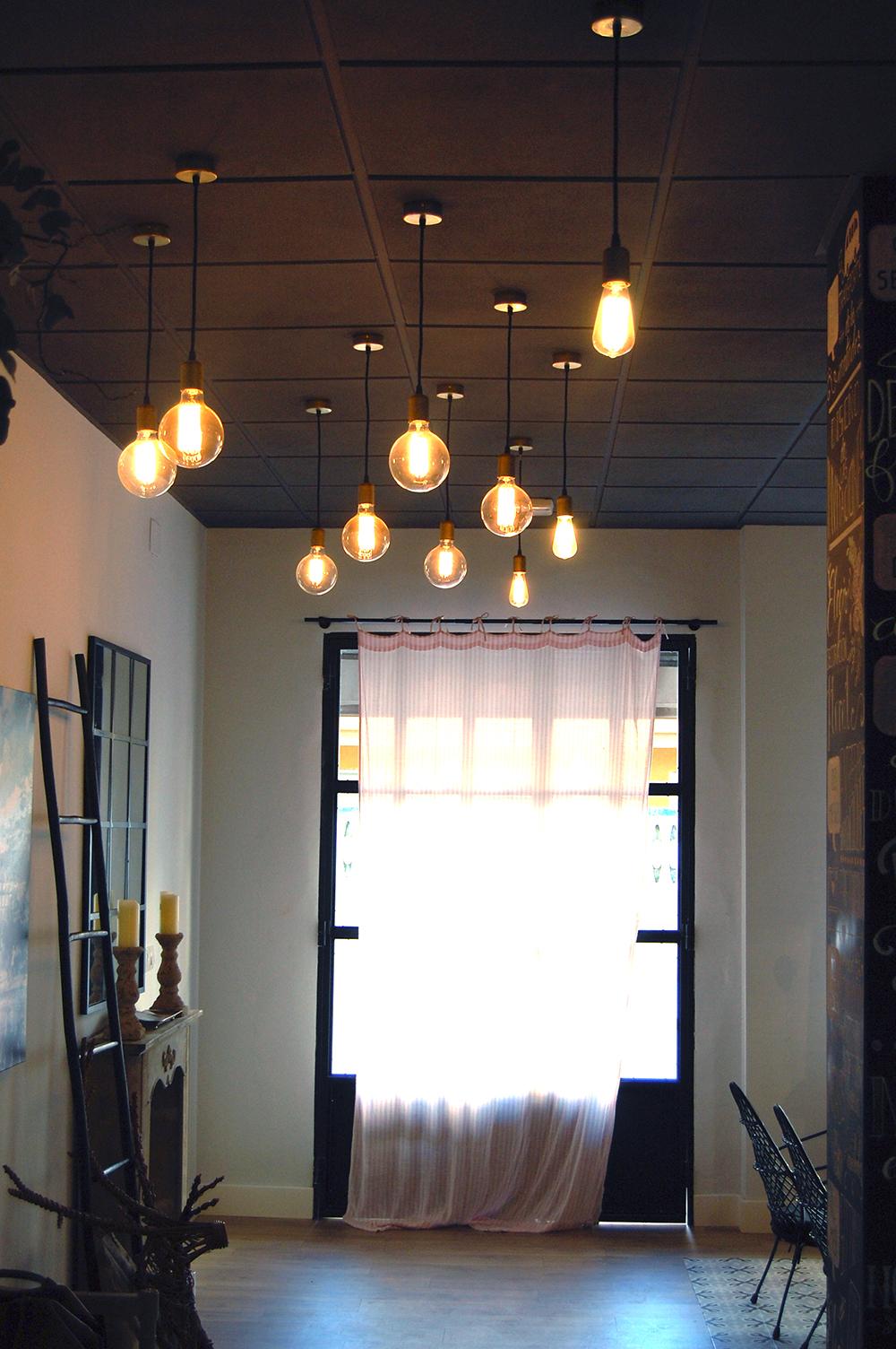 juego de lamparas en salon