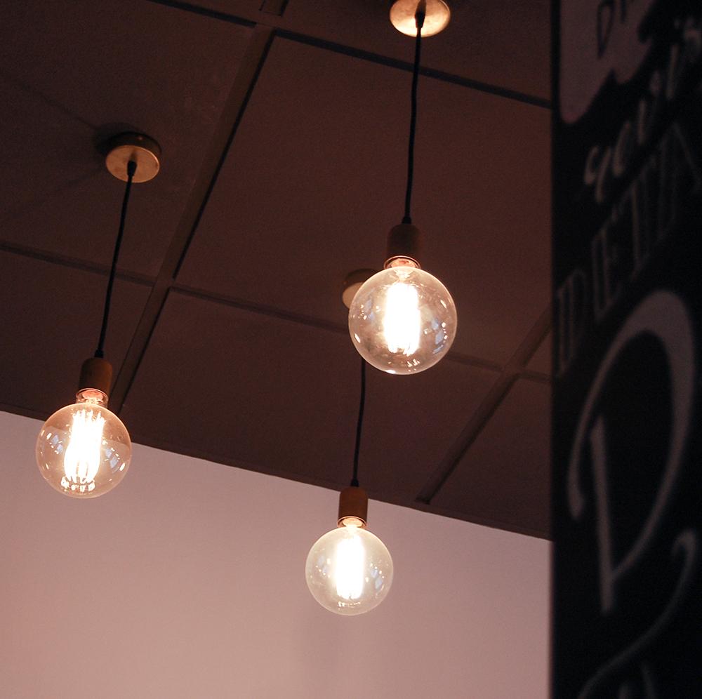 lamparas de filamentos de aire vintage