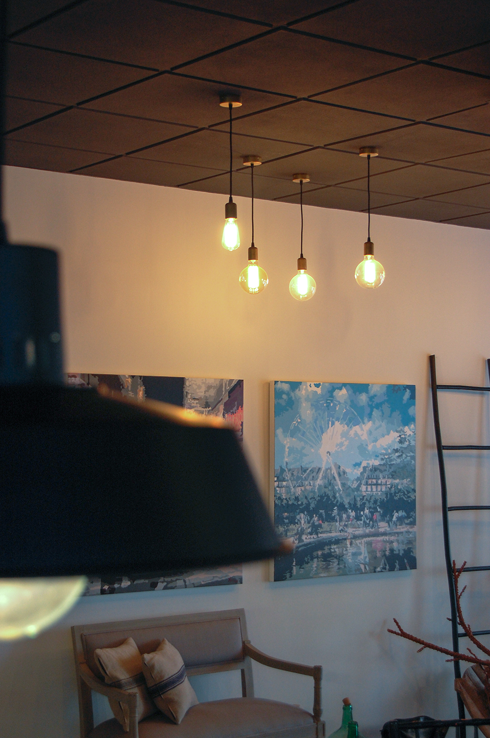iluminacion con bombillas de filamento