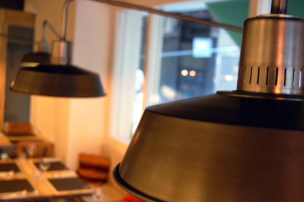 detalle de las lamparas de pared
