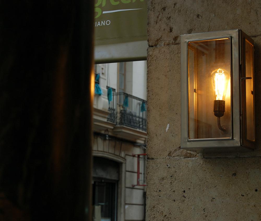 lampara exteriores estilo vintage