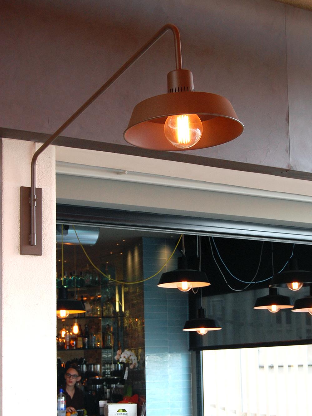 lampara de exterior de estilo industrial