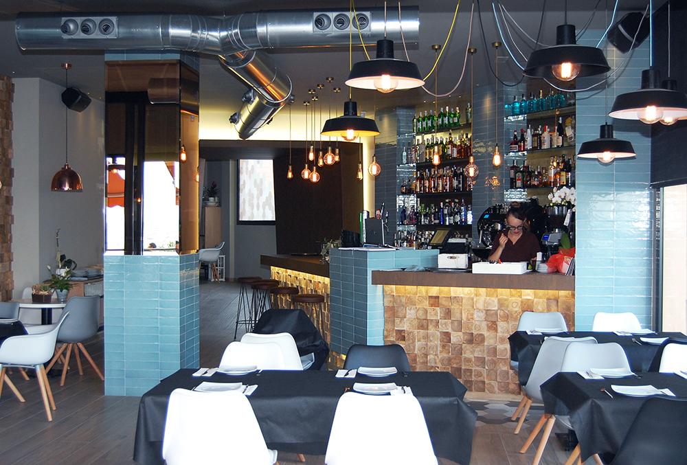 iluminacion industrial cafeteria